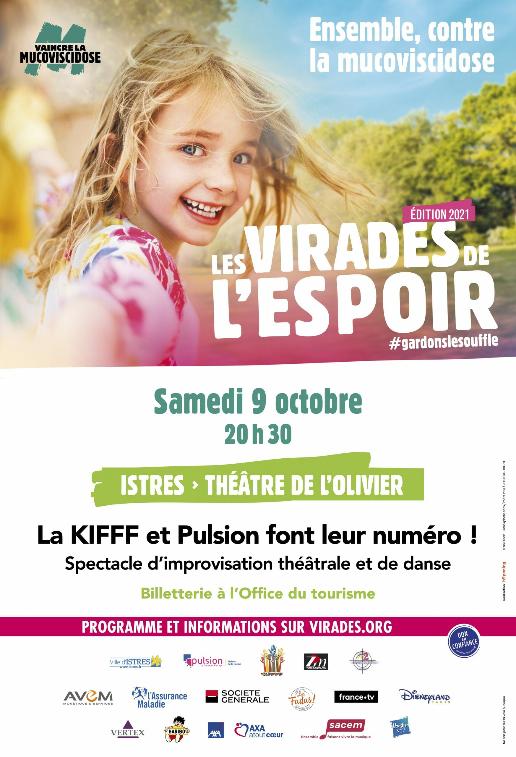 La Kifff - Improvisation istres - virades - espoir - mucoviscidose - théâtre - danse - pulsion
